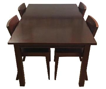 Crate & Barrel Extension Dining Table w/ 6 Chairs