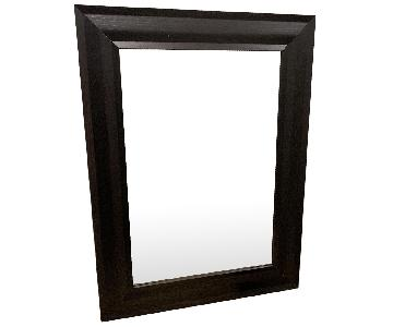 Large Beveled Wall Mirrors in Wenge/Espresso Wood