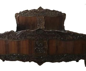 Rococo Style King Size Bed Frame