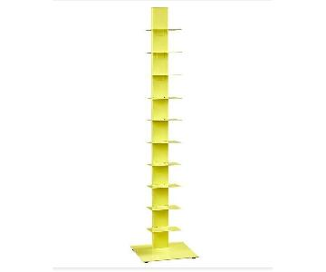 CB2 Array Bookcase in Yellow