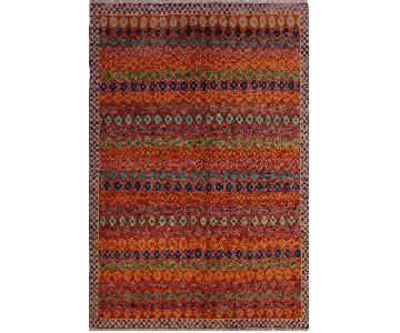 Arshs' Fine Rugs Balouchi Georgett Orange/Ivory Wool Rug