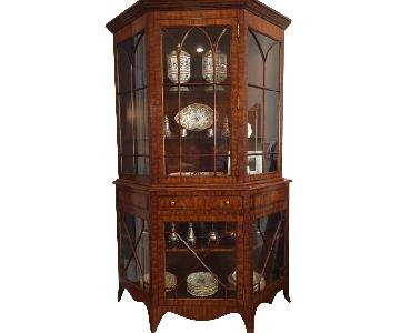 Wood & Glass Display Hutch