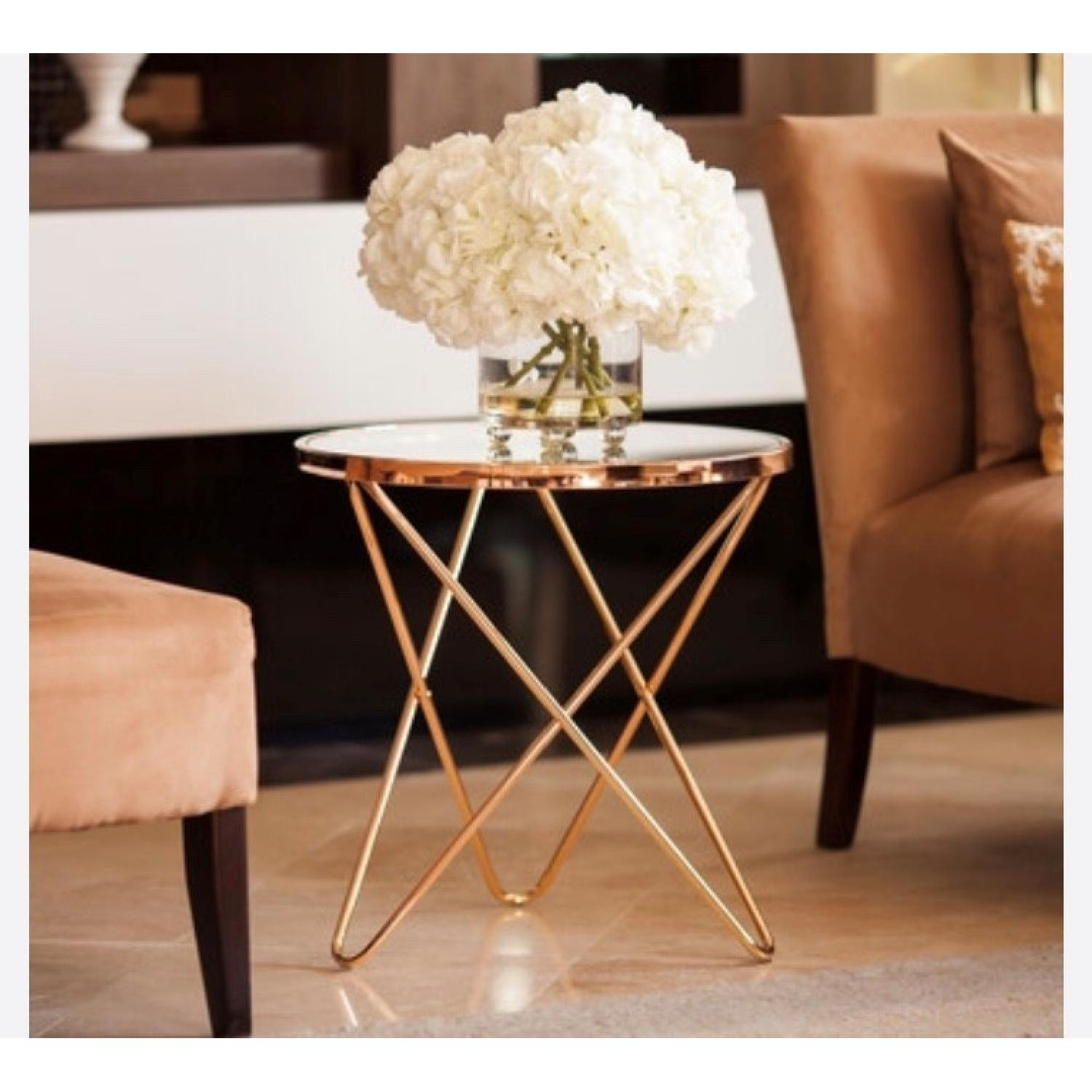Rose Gold Round Side Tables-0
