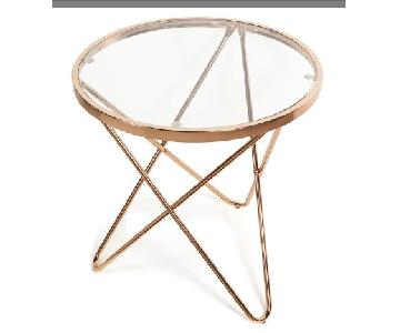 Rose Gold Round Side Tables