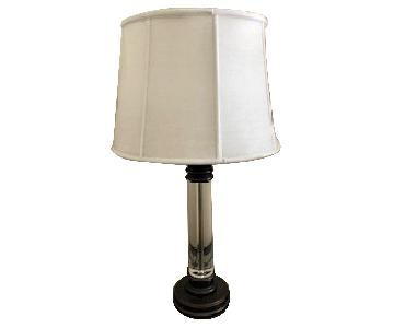 Raymour & Flanigan Metal & Lucite Table Lamp