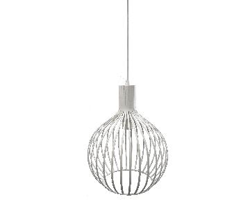 Bowery Lights White Cage Pendant