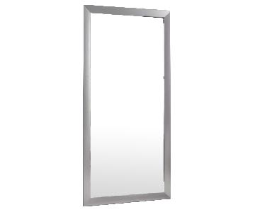 Wade Logan Rectangle Nickel Framed Wall Full Length Mirror