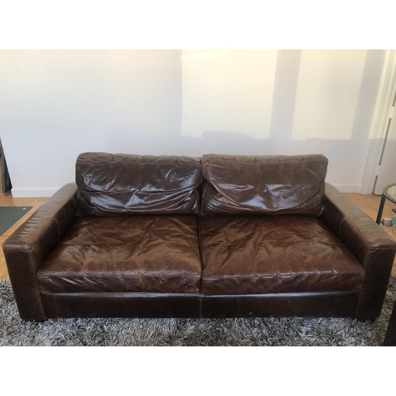 Fine Restoration Hardware Maxwell Leather Sofa Aptdeco Evergreenethics Interior Chair Design Evergreenethicsorg