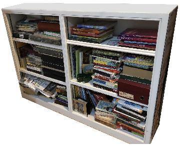 White Solid Wood Bookshelf