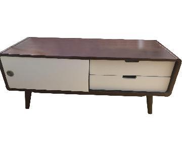 Armani Mid-Century Modern Wood TV Cabinet