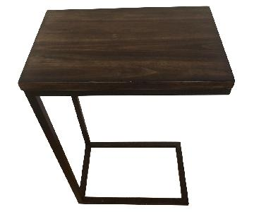 Pottery Barn Dark Wood Side Table