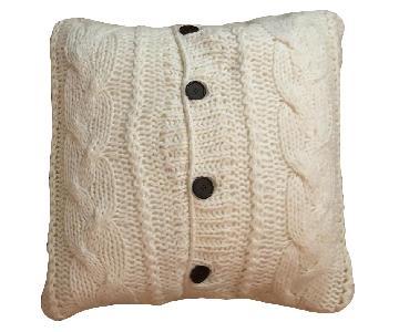 White Knit Large Pillows