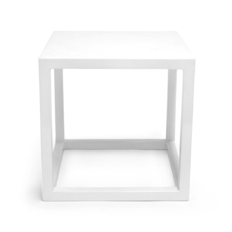 Jonathan Adler Lacquer Cube Side Table