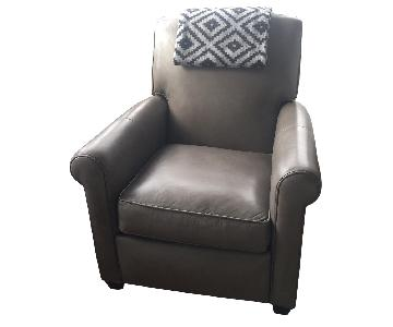 Crate & Barrel Leather Recliner in Grey
