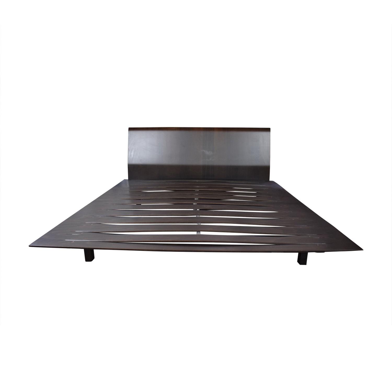 Design Within Reach Leggero Platform Walnut Bed Frame