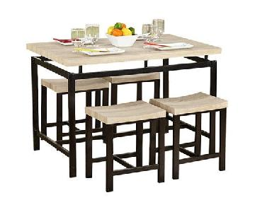5-Piece Delano Dining Set in Natural