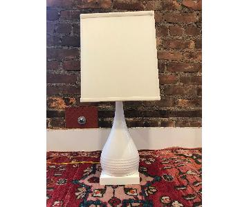 Shades of Light White Dimpled Table Lamp