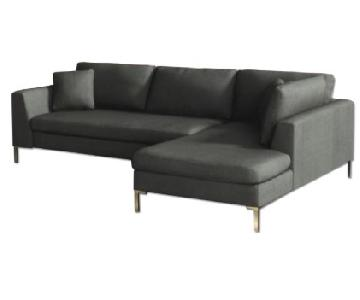 Anthropologie Edlyn 2-Piece Sectional Sofa