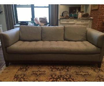 Tufted Grey Fabric Sofa