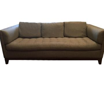 Tufted Grey Fabric Sofa
