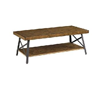 Emerald Home Rustic Wood Coffee Table