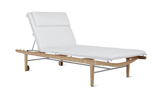Design Within Reach Norm Outdoor Lounge Finn Teak Chaise