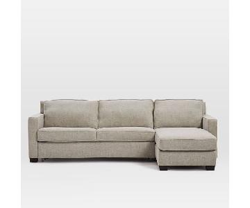 West Elm Henry 2 Piece Sleeper Sectional Sofa w/ Storage