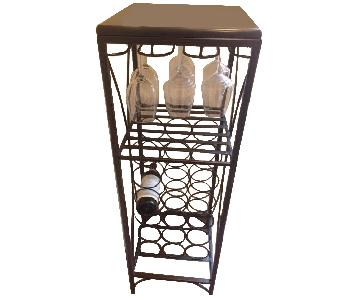 Pier 1 Marble Top Wine Rack