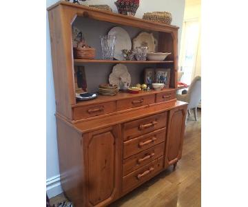 Antique Maple Two-Piece Hutch
