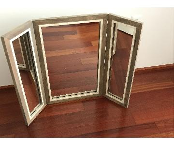 West Elm Parsons Trifold Bone Inlay Mirror
