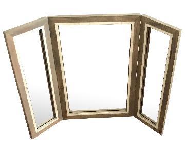 West Elm Parsons Trifold Bone Inlay Mirror