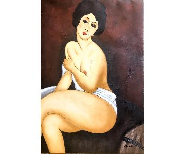 Nude Female Oil Painting on Canvas