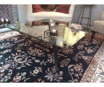 Glass Coffee Table + Matching Side/Console Table