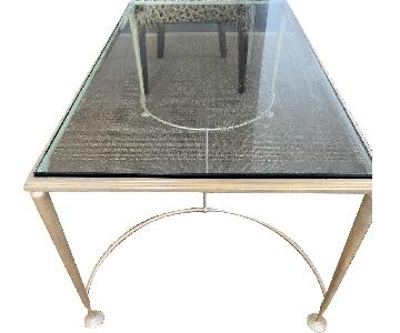 La Forge Francaise Custom Bronze & Glass Coffee Table