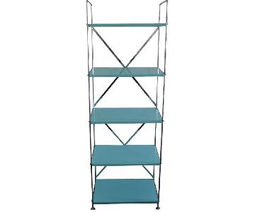 Container Store Blue Metal Shelf