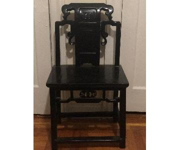 Chinoise Black Wood Chair