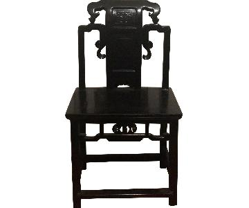 Chinoise Black Wood Chair
