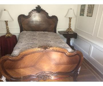 Louis XVI Hand Carved Full Bed Frame