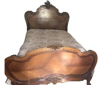 Louis XVI Hand Carved Full Bed Frame