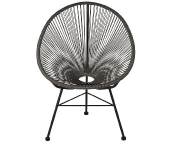 Acapulco Weave Lounge Chair in Grey