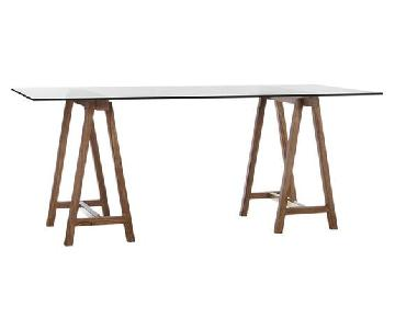 CB2 Foundry Trestle Table