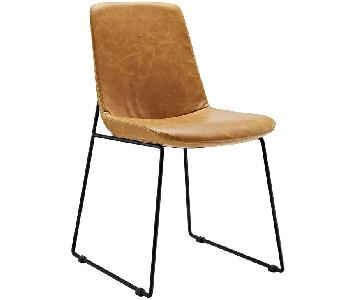 Lexmod Invite Tan Leather Dining Chairs