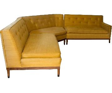 Mid Century Modern Vintage Sectional Sofa
