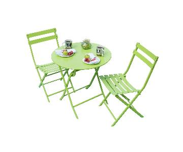 Corvus Eta 3-Piece Green Metal Patio Set