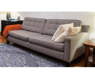 Macy's Tufted Grey Sofa