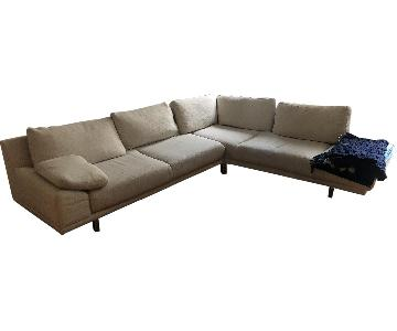 BoConcept 2 Piece Corner Sectional Sofa