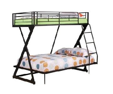 Acme Furniture Twin Over Full Black Metal Bunk Bed