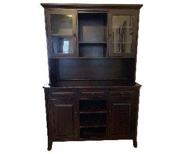 Pottery Barn Dark Wood China Cabinet