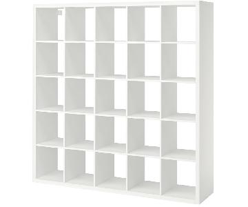 Ikea White Kallax Shelf Unit w/ 10 Baskets