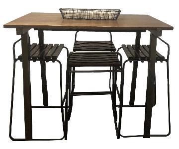 CB2 Hi-Top Dining Table w/ 4 Stools